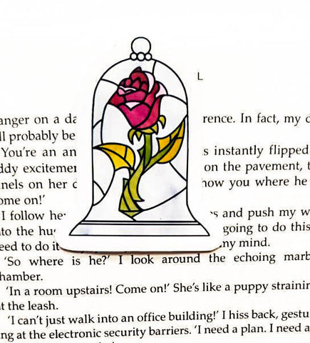 Beauty and The Beast Rose magnetic bookmark