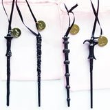 Set of 4 Personalized Black Wands