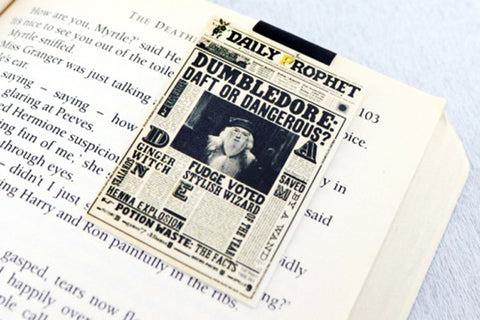Dumbledore Daily Prophet magnetic bookmark