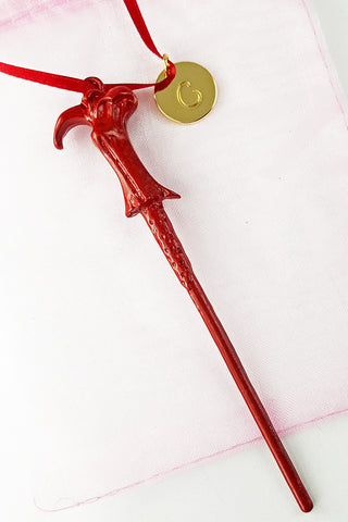 "Personalized Voldemort ""Gryffindor"" Wand Ornament"