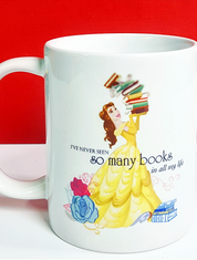 Beauty and the Beast Books Coffee Mug