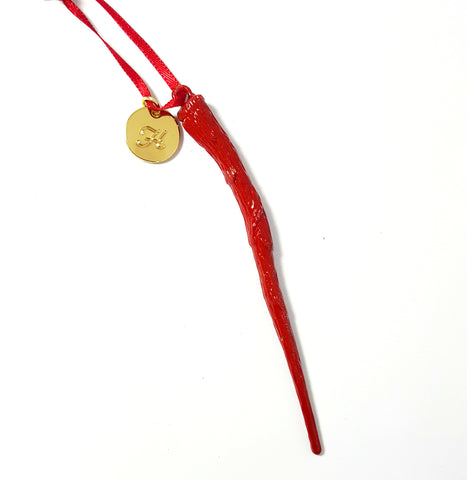 "Personalized ""Gryffindor"" Bellatrix Wand Ornament"
