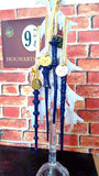 "Set of 4 Personalized ""Ravenclaw"" Wand Ornaments"