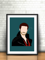 Captain Hook wall print