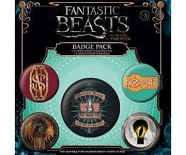 Fantastic Beasts pins - set of 5