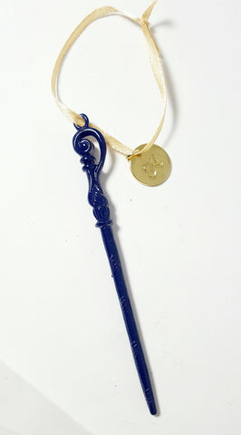 "Personalized Fleur Delacour ""Ravenclaw"" wand ornament"