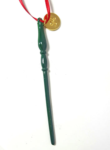 "Personalized ""Slytherin"" Luna Wand Ornament"