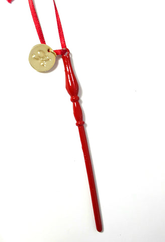 "Personalized ""Gryffindor"" Luna Wand Ornament"