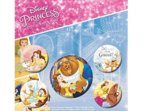 Beauty and the Beast pins - pack of 5
