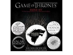 House Stark - Game of Thrones pins - set of 5