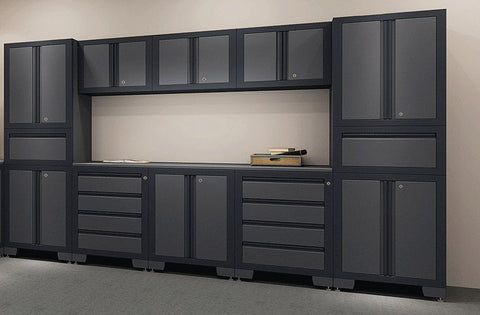 Sectional Series 12-Piece Cabinetry Set (in Grey)