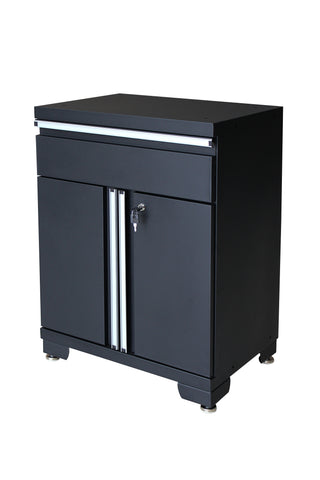 Classic 1.0 Series 1- Drawer 2-Door Base Cabinet - Black