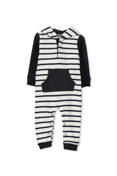 Stripe Fleece Romper by Milky