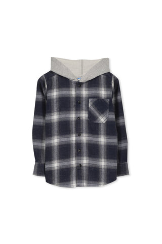 Hooded Check Shirt (3-7)
