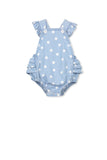 Chambray Spot Playsuit (000-2)