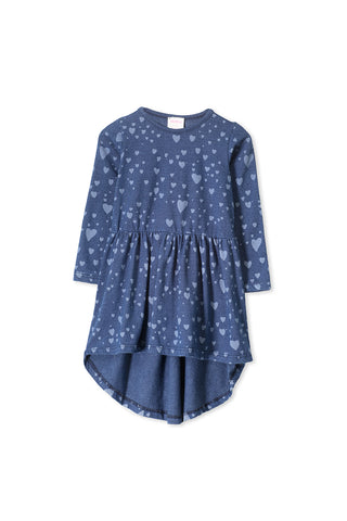 Denim Heart Dress (3-7)
