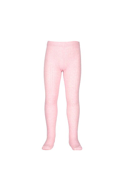 Jacquard Tights - Pink