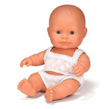 Miniland Anatomically Correct Baby Doll, Caucasian Boy, 21cm