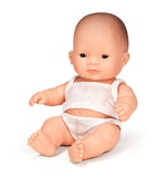Miniland Anatomically Correct Baby Doll, Asian Girl, 21cm