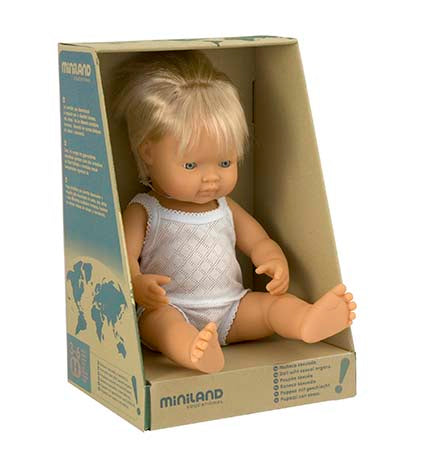 Miniland Anatomically Correct 38cm Doll, Caucasian Boy