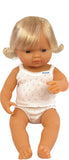 Miniland Anatomically Correct 38cm Doll, Caucasian Girl