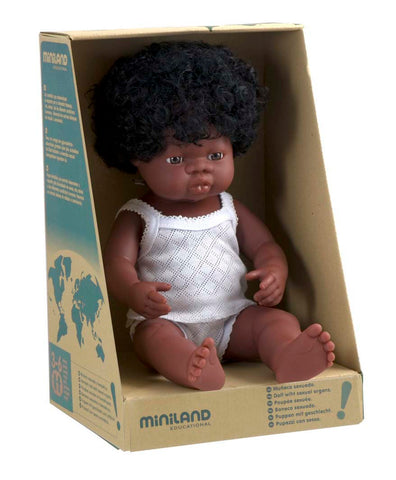 Miniland Anatomically Correct 38cm Doll, African Girl