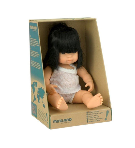 Miniland Anatomically Correct 38cm Doll, Asian Girl