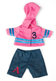 Miniland Wardrobe, 21cm Doll Hoodie and Jeans Outfit