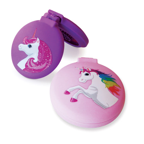 Unicorn Compact - Hairbrush & Mirror