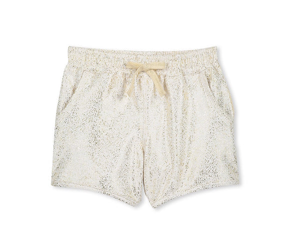 Girls Gold Speckle shorts