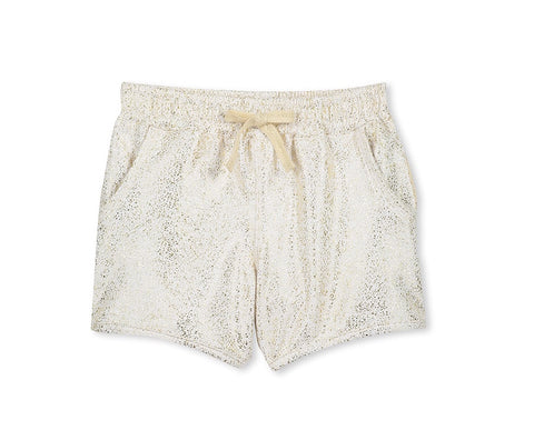 Girls Gold Speckle shorts (3-7)