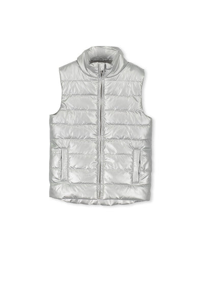 Silver Puffer Vest by Milky