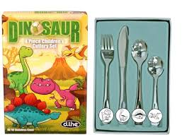 Children's 4 piece Cutlery Set - Dinosaurs