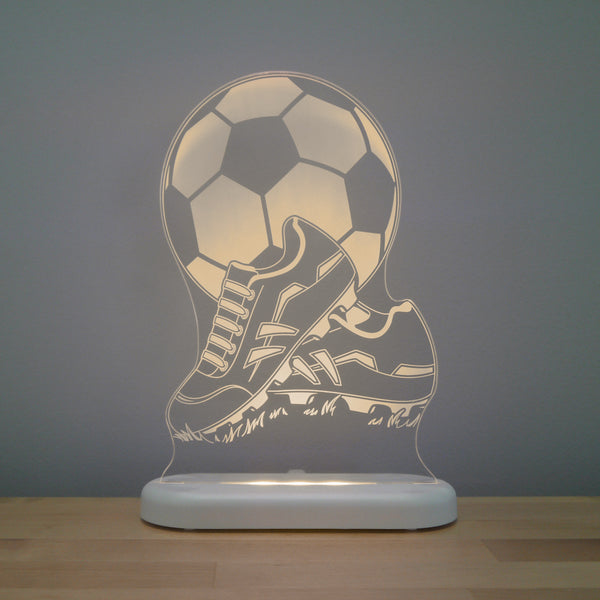 Soccer Ball with Boots Night Light