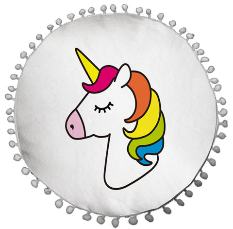 Unicorn Round Cushion