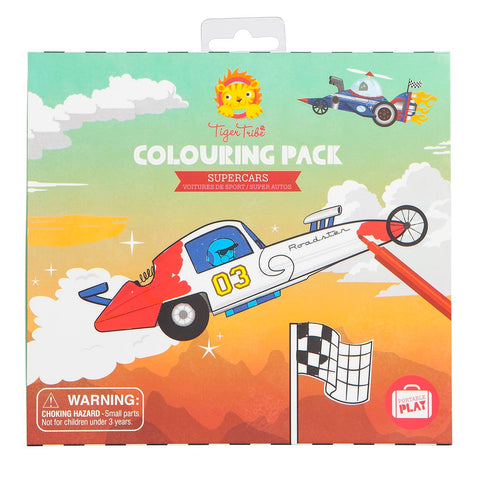 Colouring Pack - Super Cars