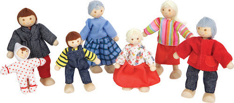 Discoveroo Wooden Doll Family