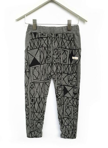 Fresh Baked Kids Geo Grey Slouch Pant