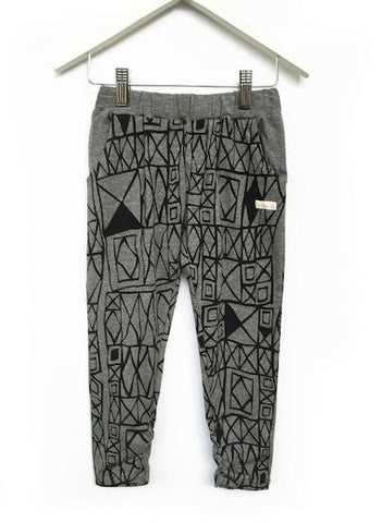 Fresh Baked Geo Grey Slouch Pant (2-8)