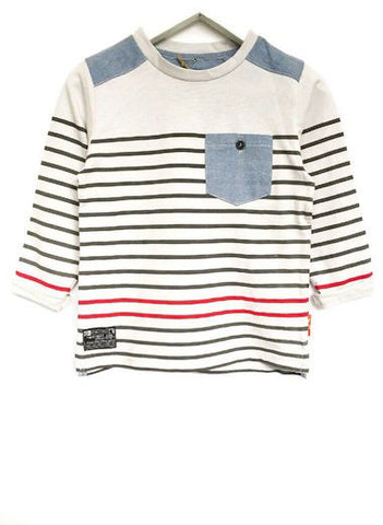 Fresh Baked Striped Tee Iced Slate (2-8)