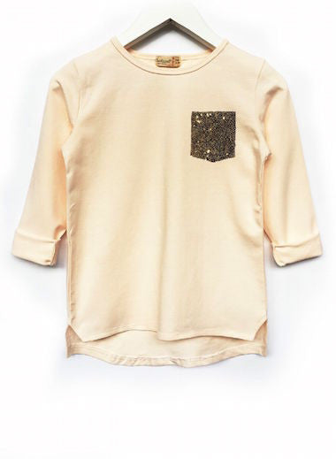 Fresh Baked Kids Hi-Lo Tee Blushing Sparkle