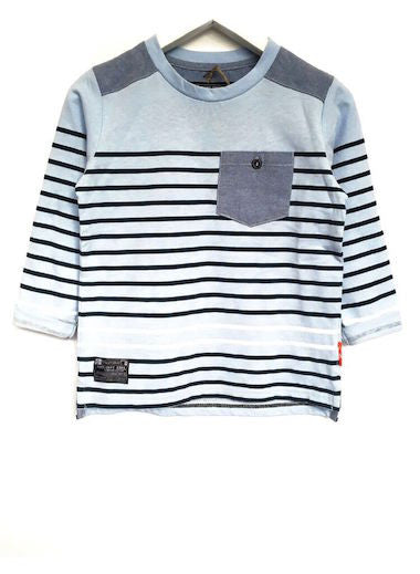 Fresh Baked Striped Tee Starlight Blue(2-8)