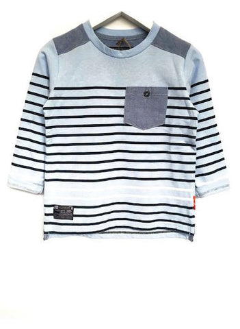 Fresh Baked Striped Tee Starlight Blue