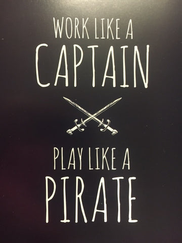 Pirate Captain Poster