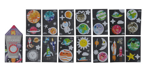 Glow in the dark stickers - Space