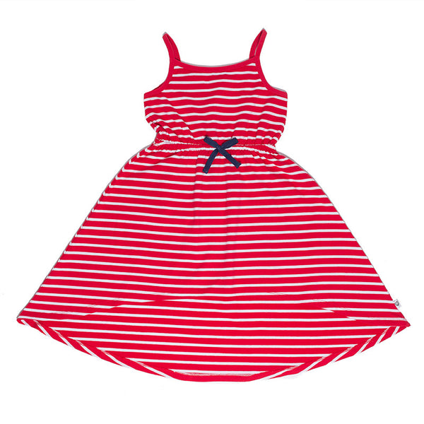 Island Dress (Red Stripe)