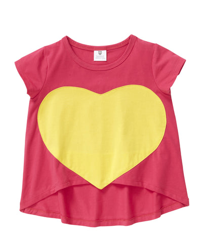 Big Love Tee Hot Pink (2-7)