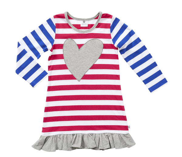 Love the Stripe Dress by Hootkid (3-7)