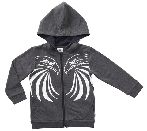 Eagle Pride Zip Thru Hoodie by Hootkid (3-12)