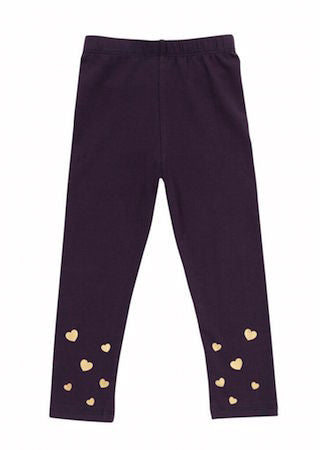 Little Falling Heart Legging Navy